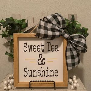 Farmhouse wood picture Sweet Tea & Sunshine